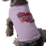 Corazón I mi camiseta del perro del tatuaje de la  Camisa De Perrito