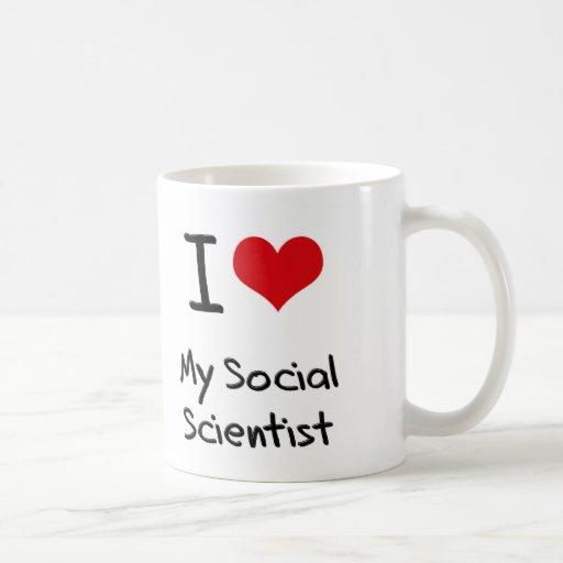 Corazón I mi científico social Taza De Café