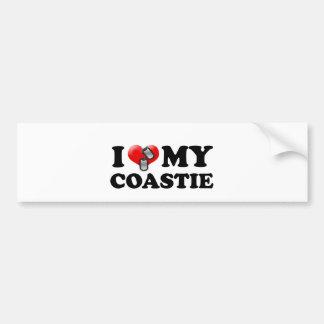 Corazón I mi Coastie Pegatina Para Auto
