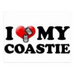 Corazón I mi Coastie Tarjeta Postal