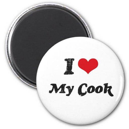 Corazón I mi cocinero Imanes De Nevera