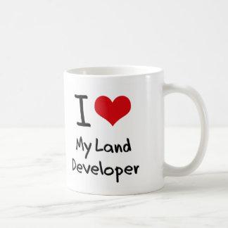 Corazón I mi desarrollador de la tierra Taza
