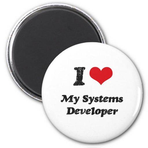 Corazón I mi desarrollador de los sistemas Imán De Nevera