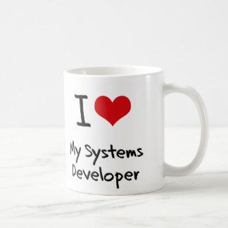 Corazón I mi desarrollador de los sistemas Tazas De Café