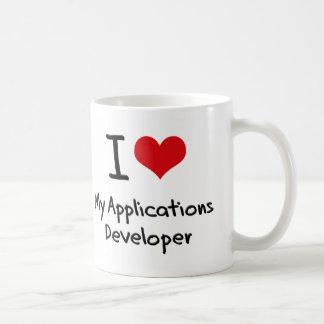Corazón I mi desarrollador de usos Taza
