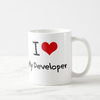 Corazón I mi desarrollador Taza De Café
