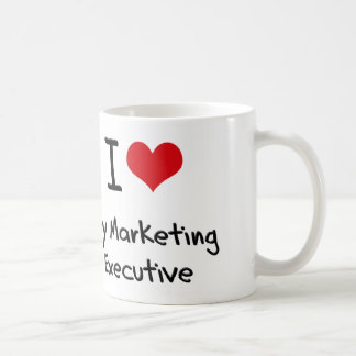 Corazón I mi ejecutivo de marketing Tazas De Café