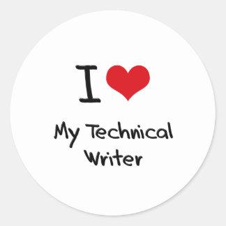 Corazón I mi escritor técnico Pegatinas