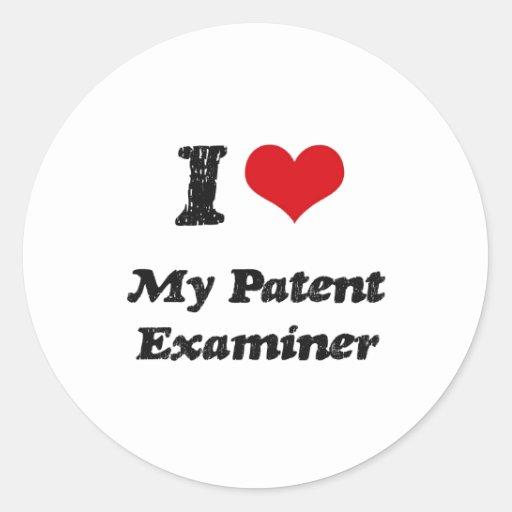 Corazón I mi examinador de la patente Etiqueta Redonda