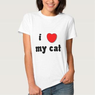 corazón i mi gato playeras