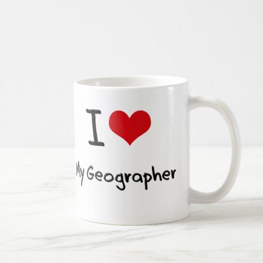 Corazón I mi geógrafo Tazas De Café