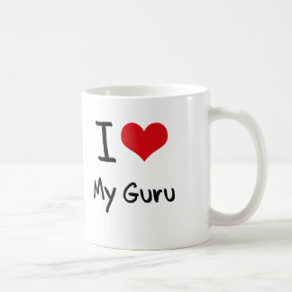 Corazón I mi Guru Taza De Café