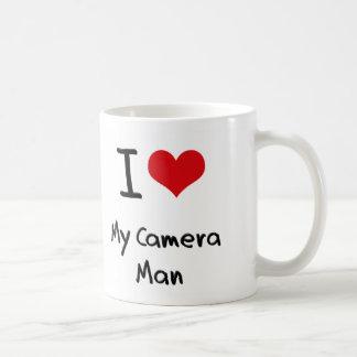 Corazón I mi hombre de la cámara Taza De Café