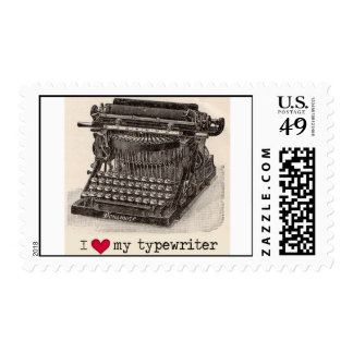 Corazón I mi máquina de escribir Timbre Postal