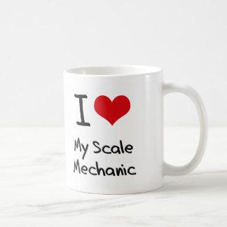Corazón I mi mecánico de la escala Tazas