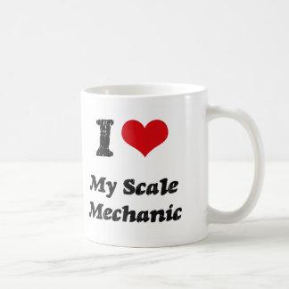 Corazón I mi mecánico de la escala Tazas De Café