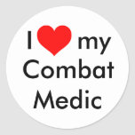 ¡Corazón I mi médico del combate! Pegatina