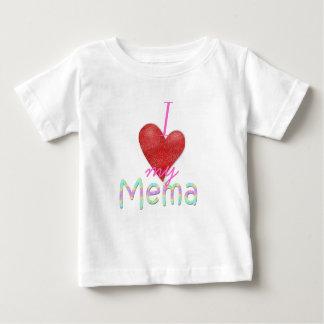 Corazón I mi Mema Playera De Bebé