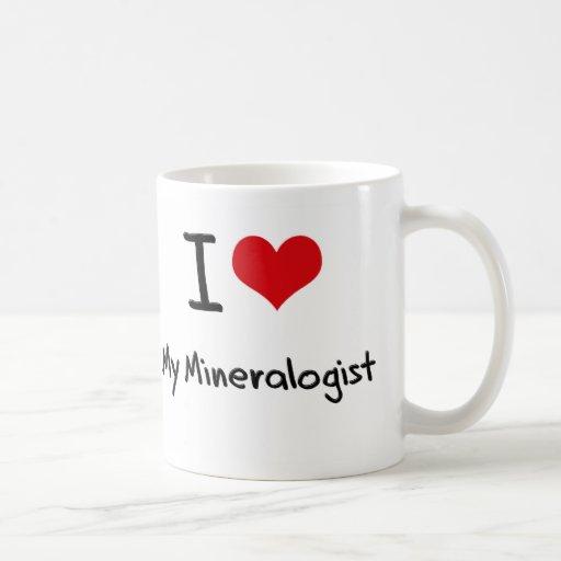 Corazón I mi mineralogista Taza Básica Blanca