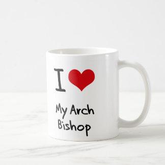 Corazón I mi obispo del arco Taza