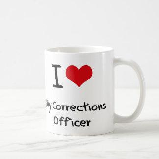Corazón I mi oficial de correcciones Tazas