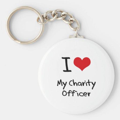 Corazón I mi oficial de la caridad Llaveros Personalizados