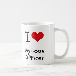 Corazón I mi oficial de préstamo Taza De Café