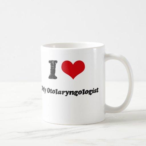 Corazón I mi otorrinolaringólogo Tazas De Café