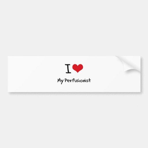 Corazón I mi Perfusionist Pegatina De Parachoque