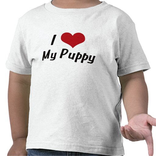 Corazón I mi perrito Camiseta