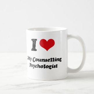 Corazón I mi psicólogo de asesoramiento Tazas De Café