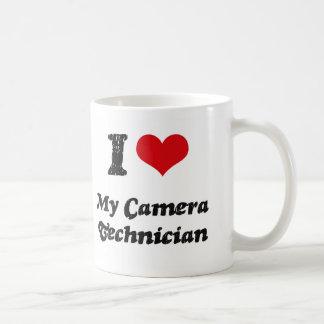 Corazón I mi técnico de la cámara Taza De Café