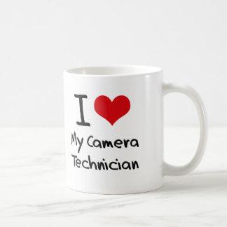 Corazón I mi técnico de la cámara Tazas