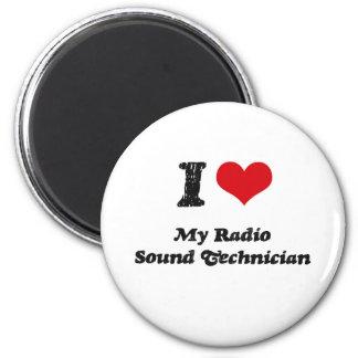 Corazón I mi técnico sano de radio Imán Para Frigorífico