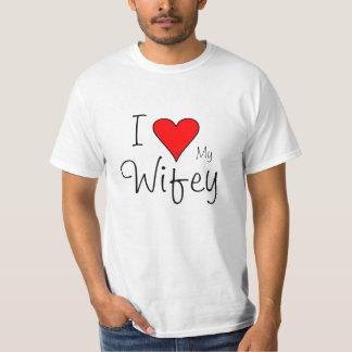 Corazón I mi wifey Playeras