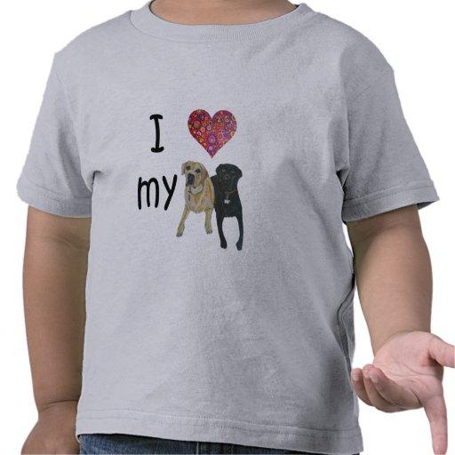 Corazón I mis laboratorios Camiseta