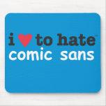 corazón i para odiar cómico sin mousepad alfombrillas de ratón