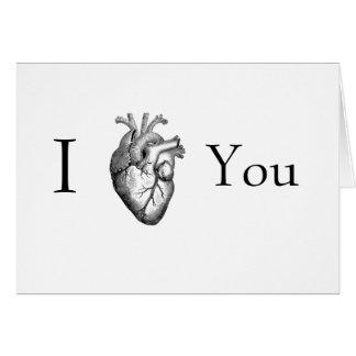 Corazón I usted (anatómico) Tarjeta De Felicitación