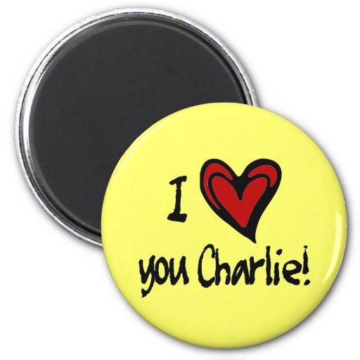 Corazón I usted Charlie Iman Para Frigorífico