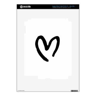 Corazón I usted iPad 3 Skins
