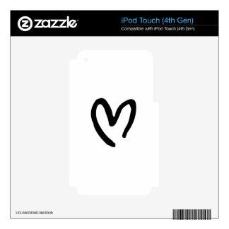 Corazón I usted iPod Touch 4G Calcomanías