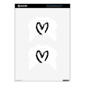 Corazón I usted Mando Xbox 360 Calcomanía