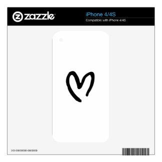 Corazón I usted Skins Para eliPhone 4