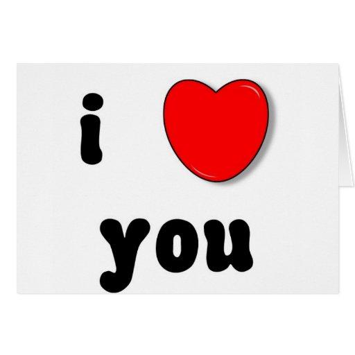 corazón i usted tarjeta de felicitación
