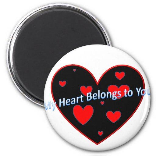 Corazón Iman De Nevera