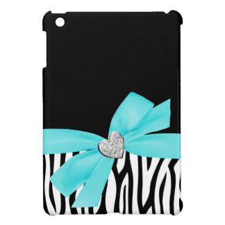 Corazón impreso azul del diamante del arco del tru iPad mini cárcasas