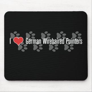 (Corazón) indicadores Wirehaired alemanes I Mousepad