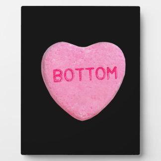 Corazón inferior del caramelo placas con foto
