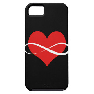 Corazón infinito funda para iPhone 5 tough