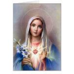 Corazón inmaculado de la tarjeta de Maria